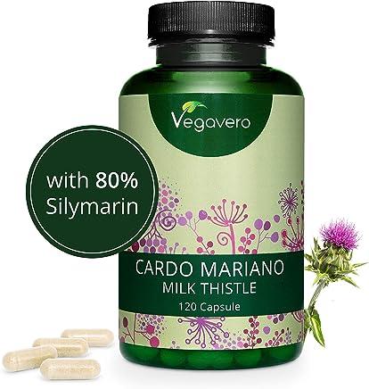 CARDO MARIANO Vegavero® | 420 mg | 120 capsule | Titolato al 80% in Silmarina | Depurativo e Disintossicante per il FEGATO | SENZA ADDITIVI | Vegan