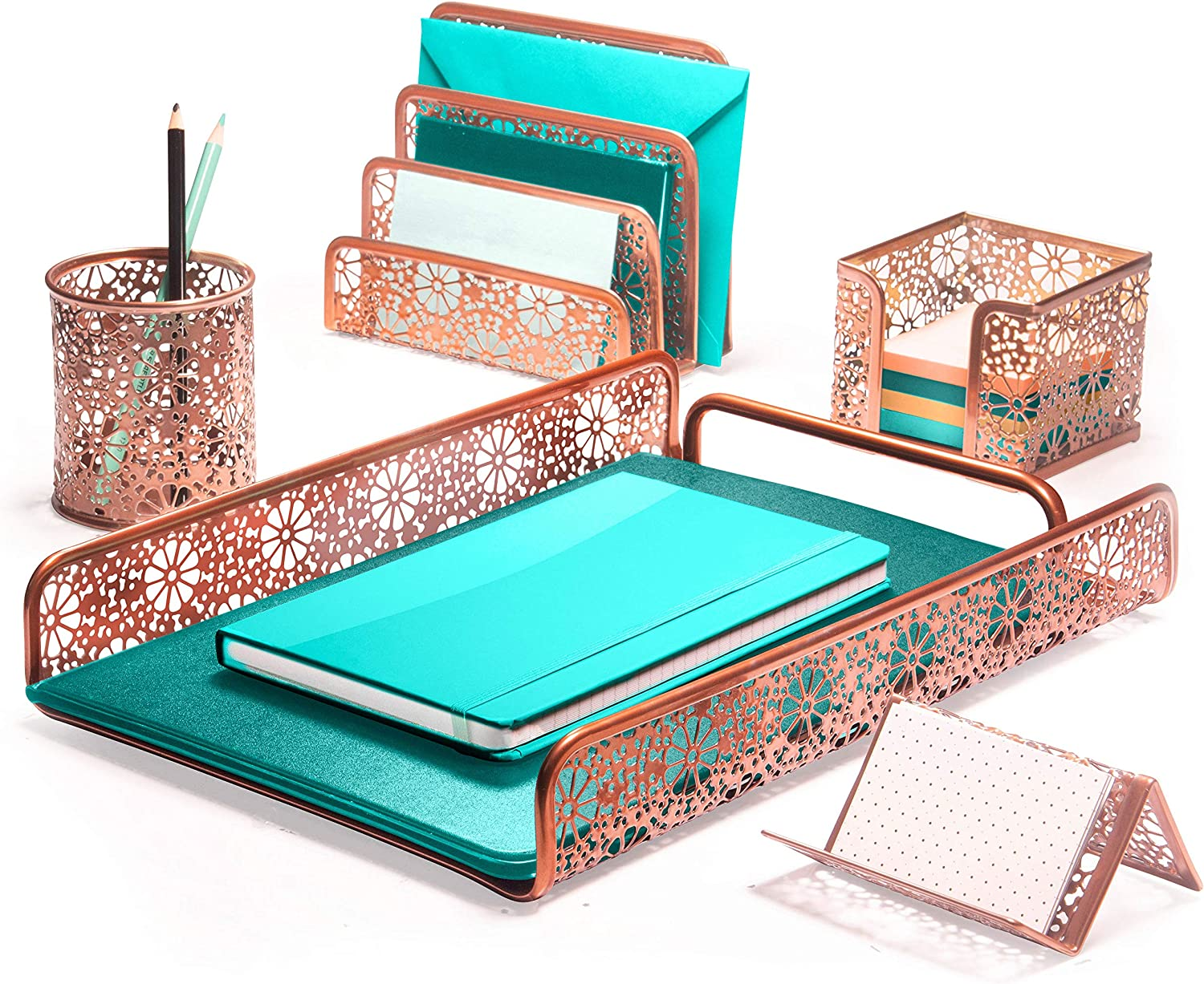 Hudstill Rose New Free Shipping Gold Cute Desk Organizer i and Indianapolis Mall Girls Set for Women