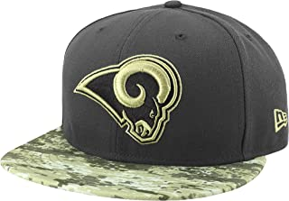 New Era 59Fifty Hat Los Angeles Rams NFL 2016 Salute to Service Gray/Camo Cap