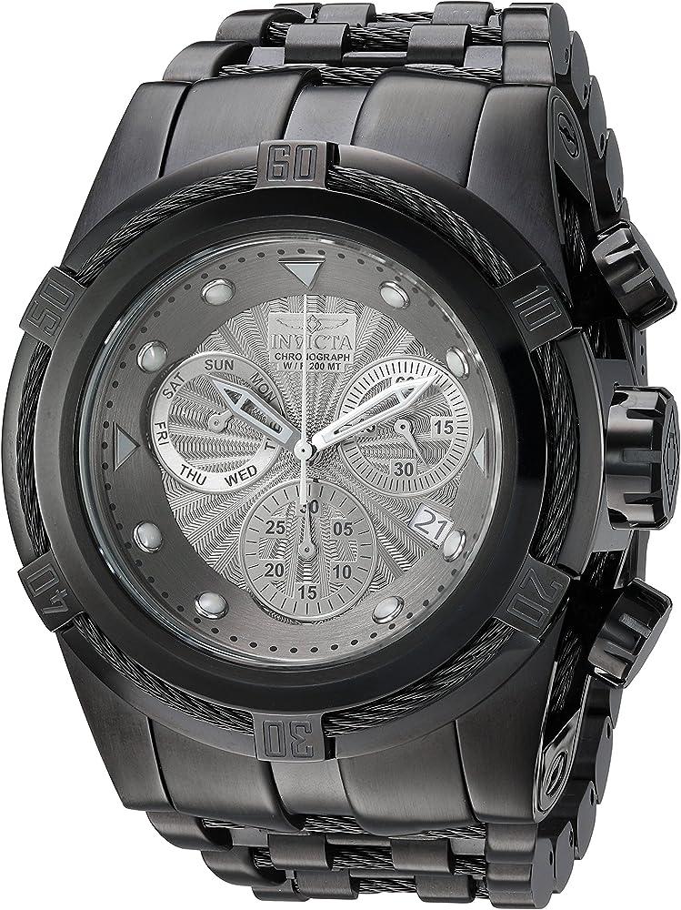 Invicta bolt zeus,orologio, cronografo al quarzo svizzero,in acciaio inossidabile 23915