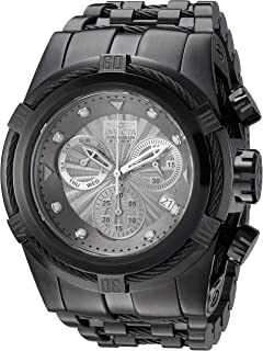 Men's Bolt Quartz Watch with Stainless-Steel Strap, Black, 36.8 (Model: 23915)