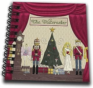 3dRose db_223585_3 Nutcracker Prince Sugar Plum Fairy Mouse King Snow Queen Clock Mini Notepad, 4