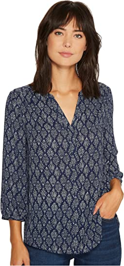 NYDJ - Solid Blouse w/ Pleated Back