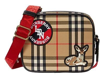 Burberry Kids Camera Case in Deer Check (Beige) Handbags