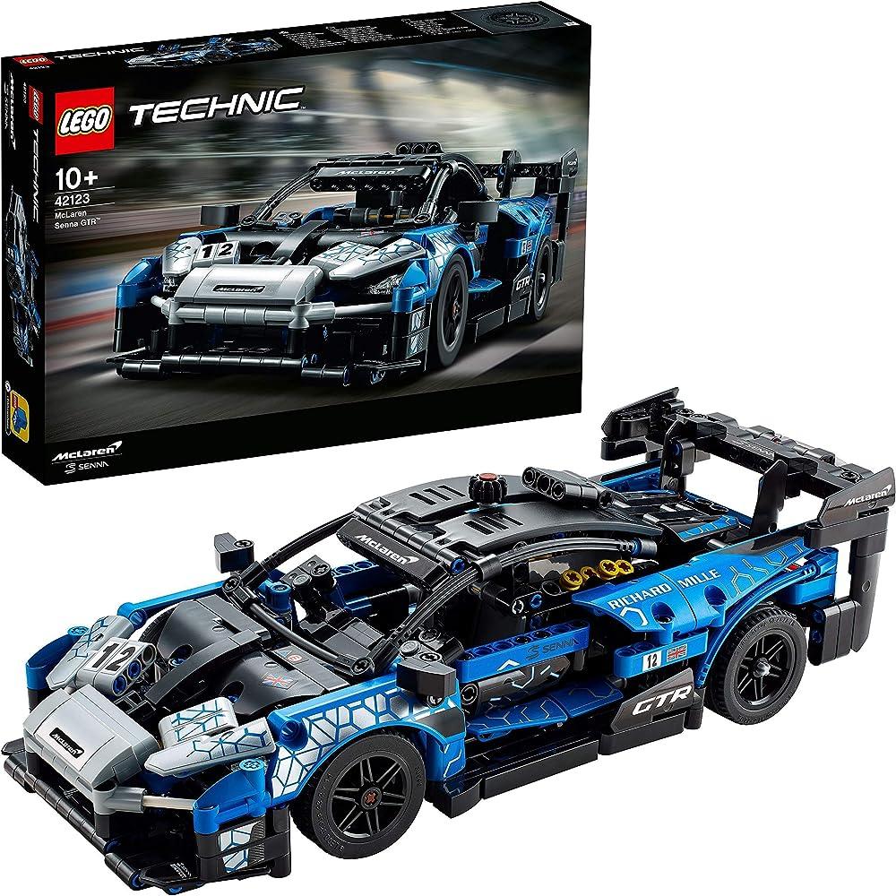 Lego technic ,mclaren senna gtr racing sports car, supercar da collezione, giocattolo da costruzione 42123