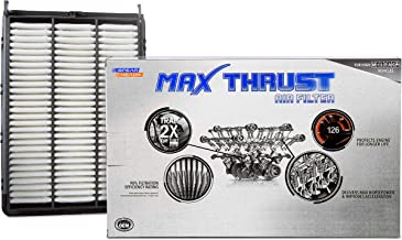 Spearhead MAX THRUST Performance Engine Air Filter For Low & High Mileage Vehicles - Increases Power & Improves Acceleration (MT-065)