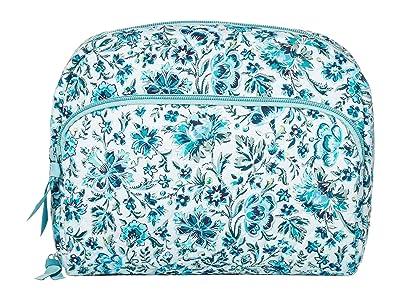 Vera Bradley Lay Flat Cosmetic (Cloud Vine) Handbags