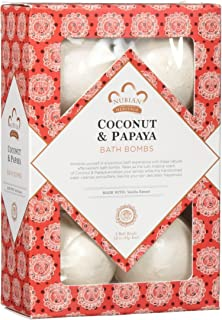 Nubian Heritage Coconut & Papaya Bath Bomb by Nubian Heritage for Unisex - 6 x 1.6 oz Bubble Bath, 6 count