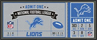 FANMATS NFL Detroit Lions NFL-Detroit Lionsticket Runner, Team Color, One Size