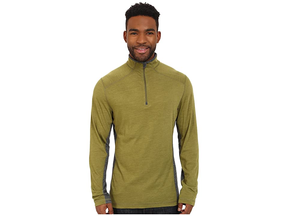 Royal Robbins Go Everywhere 1/4 Zip Shirt (Spanish Moss) Men