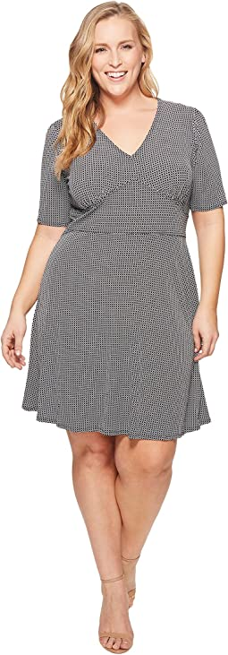 MICHAEL Michael Kors Plus Size Mod Geo Flare Dress