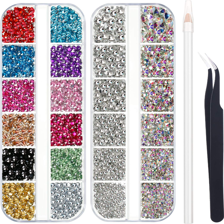 Save money 4488 Product Pieces Nail Art Crystal Rhinestones wi Flatback
