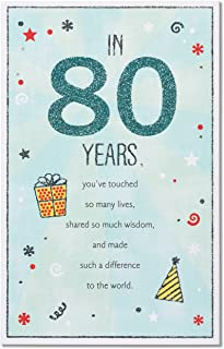 80 Years Young Birthday Card,new And Factory Sealed