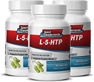 Serotonin Supplements - L-5-htp 377mg - Supreme 5 HTP Supplement for Appetite Control and Normal Sleep (3 Bottles 90 Capsules)