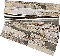 Aspect Peel and Stick Stone Overlay Kitchen Backsplash - Medley Slate (Approx. 15 sq ft Kit) - Easy DIY Tile Backsplash