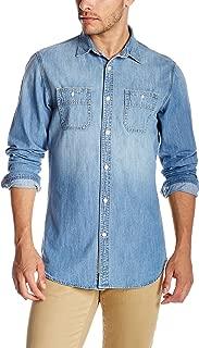 Men's Slim Fit Denim Work Shirt