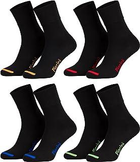 8 pares de calcetines unisex - Sin elástico - Ajuste cómodo - Caña de elastano y piqué
