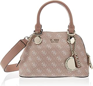 GUESS Womens Small Done Satchel, Rosewood - SG743705