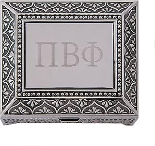 Desert Cactus Pi Beta Phi Engraved Pin Box Sorority Greek Decorative Trinket Case Great for Rings, Badges, Jewelry Etc. Pi Phi (Vintage Footed Pin Box)