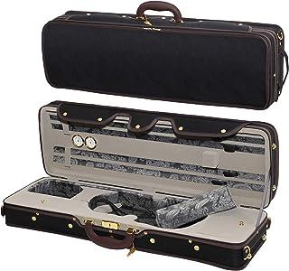 MI&VI Professional Hard-Shell Violin Case 4/4 (Full Size) Luxury Silk Interior   High-Density Foam   Lightweight   Oblong ...