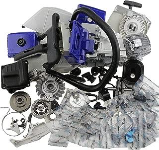 Farmertec Complete Repair Parts for Stihl MS440 044 Chainsaw Engine Crankcase Gas Fuel Tank Ignition Coil Crankshaft Carburetor Cylinder Piston Recoil Starter Muffler