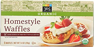 365 Everyday Value, Organic Homestyle Waffles, 6 ct, (Frozen)