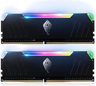 ANACOMDA デスクトップPC用メモリ DDR4-3200 PC4-25600 16GB (8GB×2枚) UDIMM RGB 発光型 ゲーミングメモリ [ブラック]