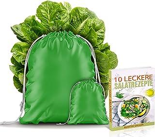 BEXEED livsmedelspåse – sallads- och kryddpåse – 2-pack – grönsakspåse – fruktpåse – torrpåse – färskhållen-påse – återanv...