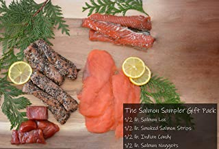 Salmon Sampler Easter Gift Basket Gourmet Food Box for Family Corporate Gifts