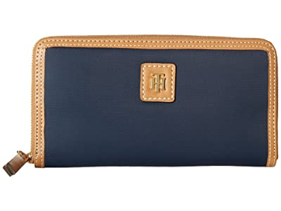 Tommy Hilfiger Julia Large Zip Nylon Wallet (Tommy Navy) Wallet Handbags