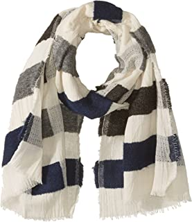French Connection womens SSIBF Textured Stripe Scarf Winter Scarve