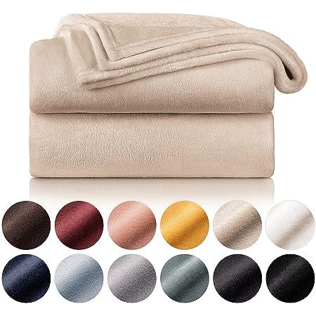 Blumtal - Couverture Polaire 270 x 230 - Plaid Beige - Plaid pour Canapé - Plaid Cocooning - Couverture Polaire Epaisse, Moelleuse, Douce Et Chaude - Haute Qualité