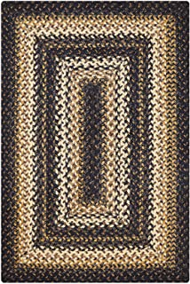 Kilimanjaro Premium Braided Jute Rug by Homespice, 5' x 8' Rectangle Brown Color, Reversible Imported Jute Yarn, Higher Quality, Longer Lasting, Longer Wear - 30 Day Risk Free Purchase