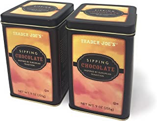 Trader Joe's Sipping Chocolate Inspired By European Tradition 9 oz. (Pack of 2 Tins)
