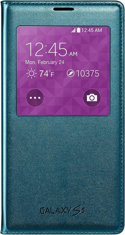 Samsung Galaxy S5 Case S View Flip Cover Folio, Green