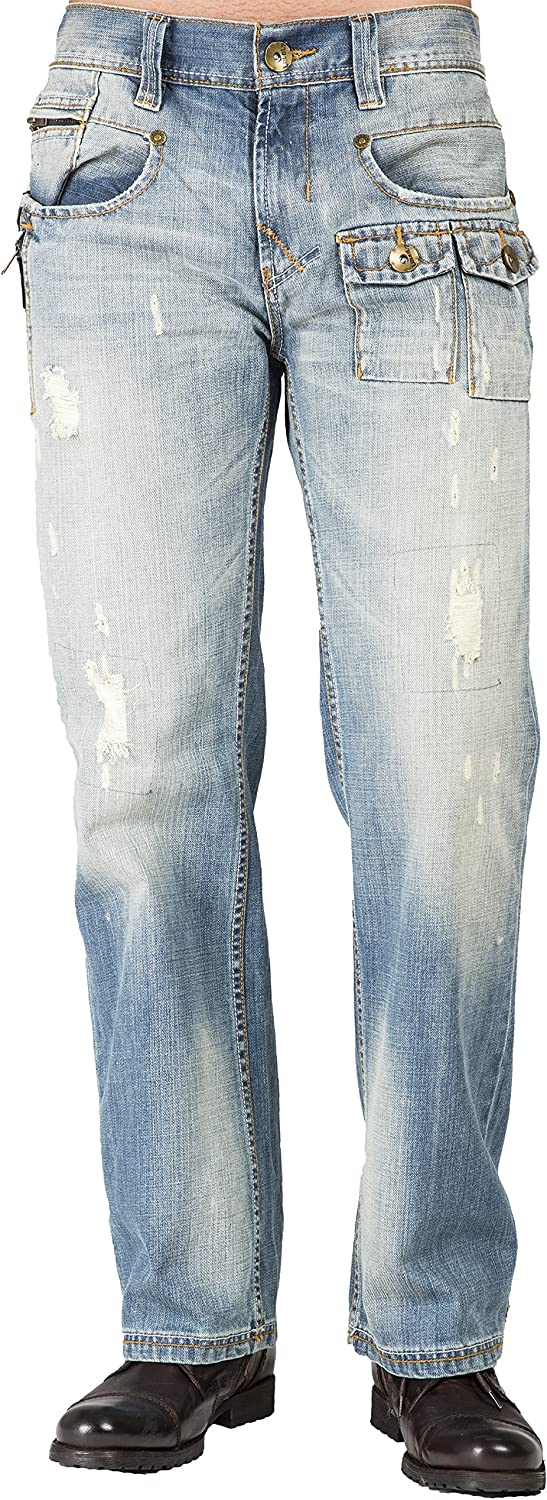 Level Max 64% OFF 7 Mens Relaxed Bootcut Jeans Distressed Premium Ut Outlet ☆ Free Shipping Zipper