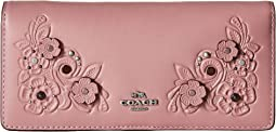 COACH - Tea Rose Tooling with Applique Slim Wallet