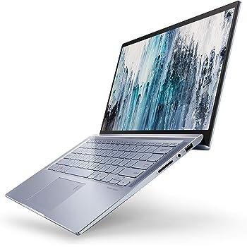 "ASUS ZenBook 14 Ultra Thin & Light Laptop, 4-Way NanoEdge 14"" Full HD, Intel Core i7-8565U, 8GB LPDDR3 RAM, 512GB NVMe PCIe SSD, Wi-Fi 5, Windows 10, Silver Blue, UX431FA-ES74"