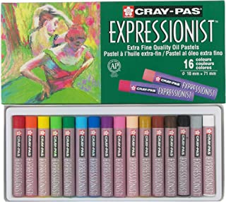 Sakura XLP16 16-Piece Cray-Pas Expressionist Assorted Color Oil Pastel Set