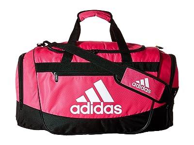 adidas Defender III Medium Duffel (Shock Pink/Black/White) Bags