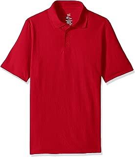 Hanes Men's Short Sleeve X-Temp Polo with FreshIQ