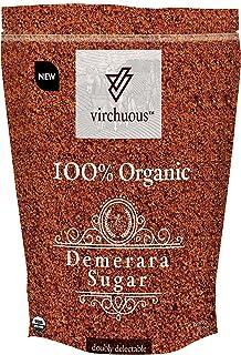 VIRCHUOUS Organic Demerara Sugar, 500 gm