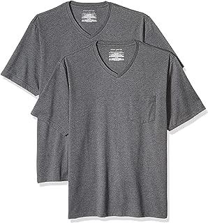 Amazon Essentials Men's 2-Pack Regular-Fit V-Neck Pocket T-Shirt