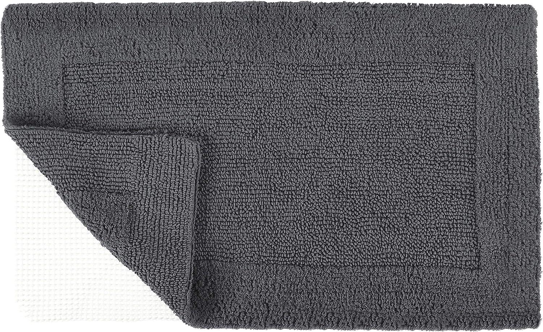 TOMORO Non-Slip Bathroom Rug Super 送料無料限定セール中 希少 Absorbent - Soft Linen Cotton