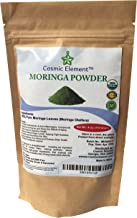 Cosmic Element USDA Organic Moringa Oleifera 4 Oz CLEARANCE ! Non GMO multivitamin for metabolism, weight, protein & mood boost - in smoothies & shakes - vegans/Introductory Price ! Clearance !