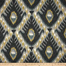 Robert Allen Fabrics Home Bold Ikat Mineral Fabric by The Yard, Mineral