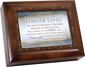 Cottage Garden Forever Loved Always Remembered Woodgrain Embossed Ashes Bereavement Urn Box