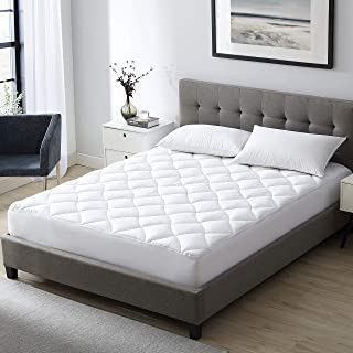 EXQ Home Queen Mattress Pad Pillow Top Mattress Cover with Down Alternative Fill,Organic Cotton Overfilled Matress Toppers for Queen Bed (Deep Pocket up to 21 Inches)
