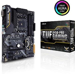 ASUS TUF B450-PRO Gaming - Placa Base Gaming ATX AMD B450 con iluminación Aura Sync RGB LED, Soporte de DDR4 3533 MHz, Dos M.2 y USB 3.1 Gen. 2 Nativo, soporta Ryzen 3000