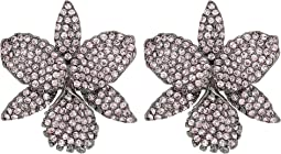 Nina - Pave Large Orchid Earrings